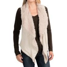 Dylan Sweatshirt & Fur Reversible Vest - Faux Fur (For Women) in Oatmeal - Closeouts