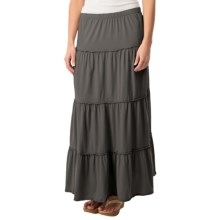 dylan Tiered Skirt - Organic Cotton (For Women) in Charcoal - Closeouts
