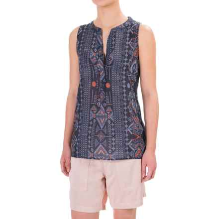 dylan Tribal Tunic Shirt - Sleeveless (For Women) in Indigo - Closeouts