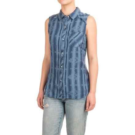 dylan Two-Layer Flannel Shirt - Fully Lined, Sleeveless (For Women) in Denim Mesa Blanket - Closeouts