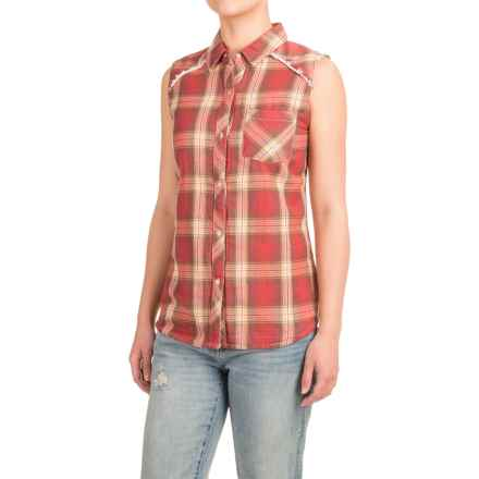 dylan Two-Layer Flannel Shirt - Fully Lined, Sleeveless (For Women) in Red Lakeside - Closeouts