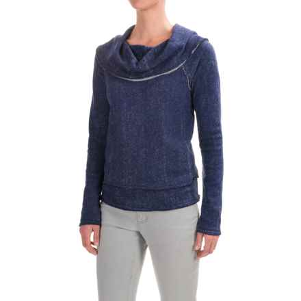 dylan Vintage Faith Cropped Sweatshirt - Cowl Neck (For Women) in Vintage Indigo - Closeouts