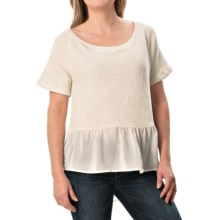 dylan Vintage Faith Shirt - French Terry Cotton, Short Sleeve (For Women) in Vintage White/Heather - Closeouts