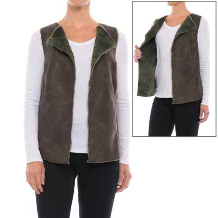 dylan Vintage Leather Reversible Vest (For Women) in Elm - Closeouts