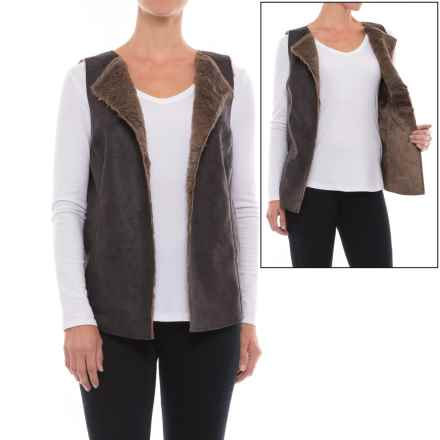 dylan Vintage Leather Reversible Vest (For Women) in Sienna - Closeouts