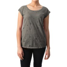 dylan Vintage Stars Slub T-Shirt - Short Sleeve (For Women) in Vintage Grey - Closeouts