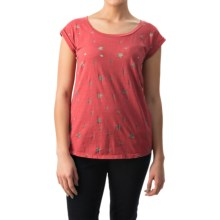dylan Vintage Stars Slub T-Shirt - Short Sleeve (For Women) in Vintage Red - Closeouts
