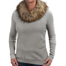 dylan Vintage Sweatshirt - Removable Faux-Fur Collar (For Women) in Heather - Closeouts