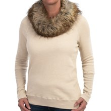 dylan Vintage Sweatshirt - Removable Faux-Fur Collar (For Women) in Natural - Closeouts