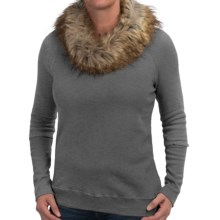 dylan Vintage Sweatshirt - Removable Faux-Fur Collar (For Women) in Vintage Black - Closeouts