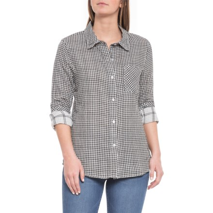d4ed71bf66880 dylan White-Black Whitney Gingham Shirt - Long Sleeve (For Women) in White