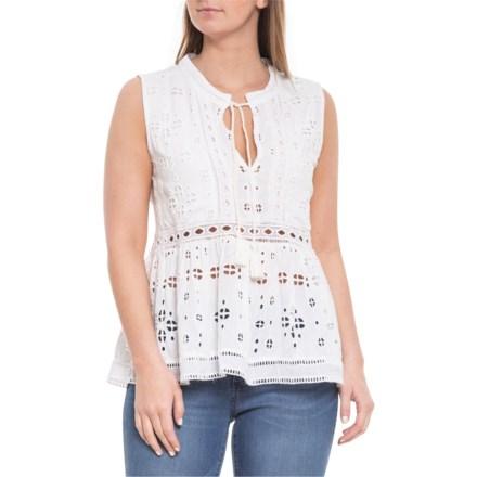 0c9ba1b015 dylan White Charlotte Tunic Shirt - Sleeveless (For Women) in White -  Closeouts