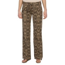dylan Woven Drawstring Pants (For Women) in Charcoal