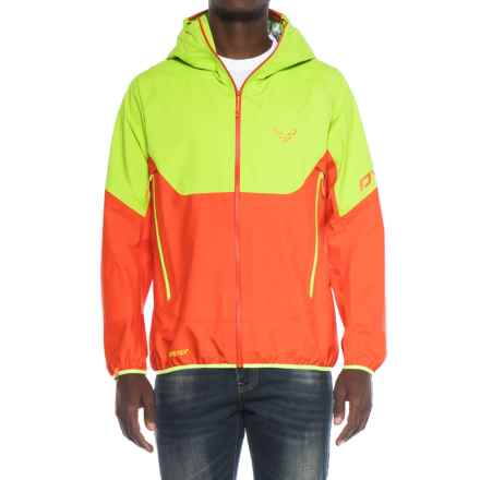 Dynafit Elevation Gore-Tex® Hooded Jacket - Waterproof (For Men) in Fluo Yellow - Closeouts