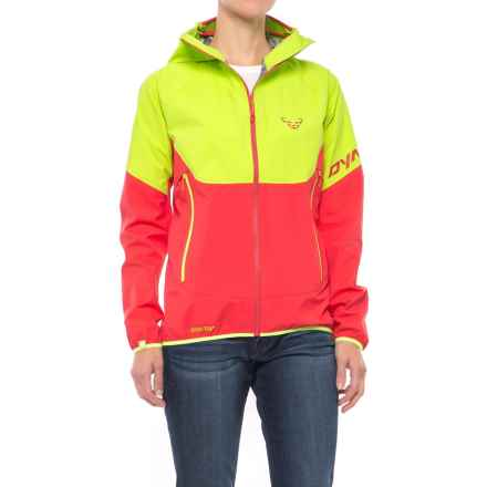 Dynafit Elevation Gore-Tex® Hooded Jacket - Waterproof (For Women) in Fluo Yellow - Closeouts
