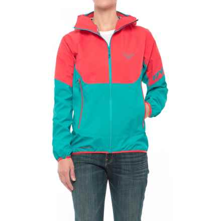 Dynafit Elevation Gore-Tex® Hooded Jacket - Waterproof (For Women) in Hibiscus - Closeouts