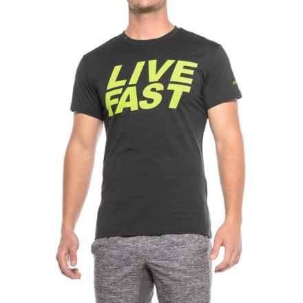 Dynafit First Track Co T-Shirt - Short Sleeve (For Men) in Asphalt/Livefast - Closeouts