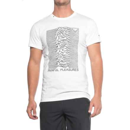 Dynafit First Track Co T-Shirt - Short Sleeve (For Men) in White/Painful Pleasures - Closeouts