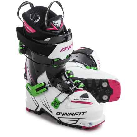 Dynafit Mercury TF Alpine Touring Ski Boots (For Women) in Matt White/Azalea - Closeouts