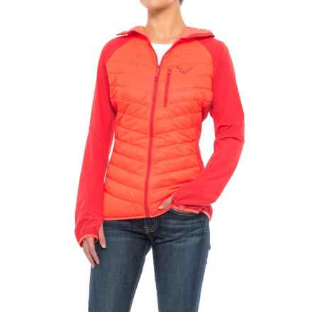 Dynafit Traverse PrimaLoft® Hybrid Jacket - Insulated (For Women) in Fluo Coral - Closeouts