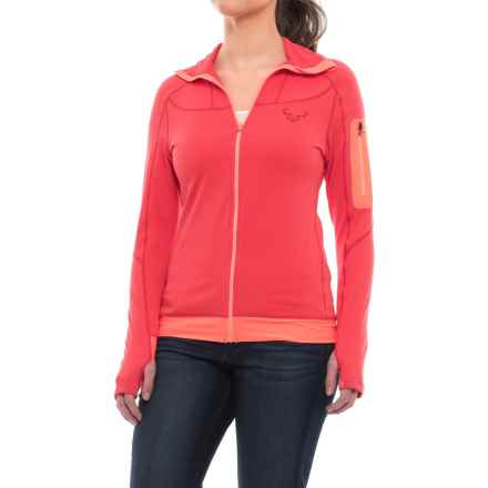 Dynafit Traverse Thermal Hooded Jacket (For Women) in Hibiscus - Closeouts