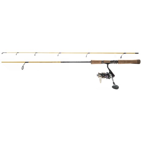 """Eagle Claw Powerlight Spinning Rod and Reel Combo - 2-Piece, 5'6"""", 3-8 lb. Test in See Photo"""