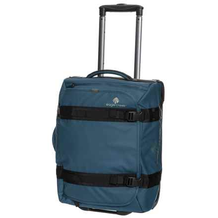 "Eagle Creek 20"" No Matter What Flatbed Rolling Suitcase - Carry-On in Slate Blue - Closeouts"