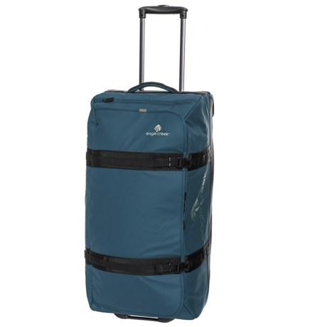 "Eagle Creek 32"" No Matter What Flatbed Rolling Duffel Bag in Slate Blue"