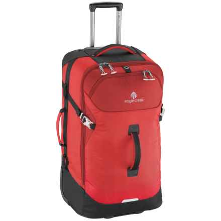 Eagle Creek 80L Expanse Rolling Duffel Bag in Volcano Red