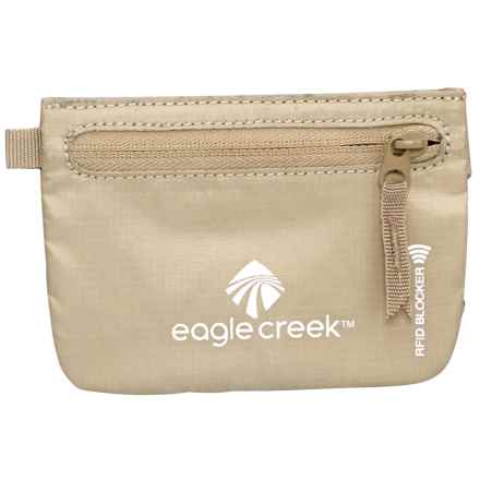 Eagle Creek Blocker Credit Clip RFID Travel Pouch in Tan - Closeouts