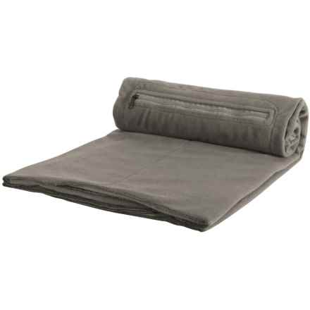 Eagle Creek Cat Nap Blanket - Fleece in Charcoal - Overstock