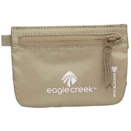 Eagle Creek Credit Clip RFID Zip Pouch in Tan - Closeouts