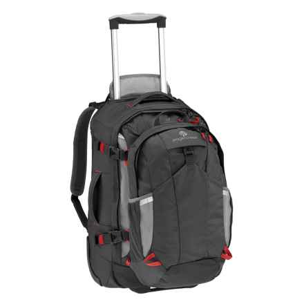 "Eagle Creek Doubleback Rolling Suicase - 22"", Removable Daypack in Black - Closeouts"