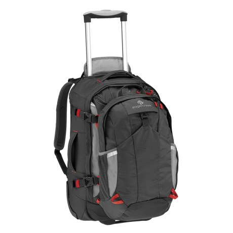 "Eagle Creek Doubleback Rolling Suicase - 22"", Removable Daypack in Black"