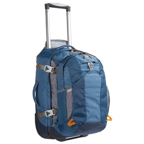"""Eagle Creek Doubleback Rolling Suitcase - 22"""", Removable Daypack"""