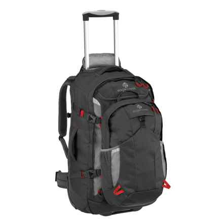 """Eagle Creek Doubleback Rolling Suitcase - 26"""", Removable Daypack in Black - Closeouts"""