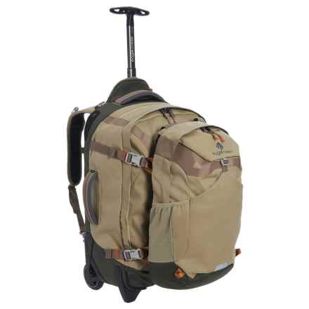 "Eagle Creek Doubleback Rolling Suitcase - Removable Daypack, 22"" in Tan/Olive - Closeouts"