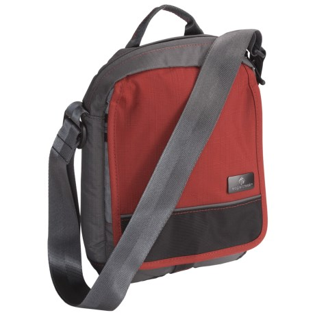 Eagle Creek Guide Pro Courier Bag in Red Clay/Grey