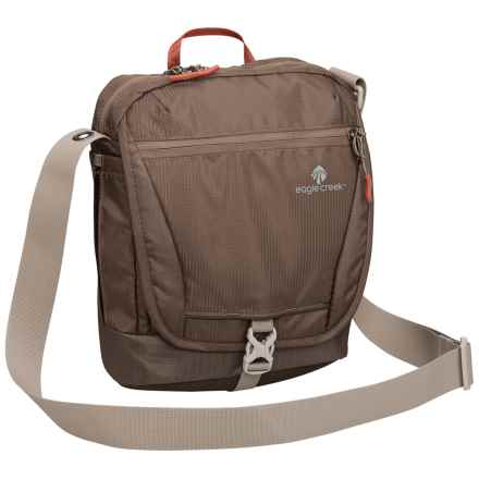 Eagle Creek Guide Pro Courier RFID Shoulder Bag in Brown - Closeouts