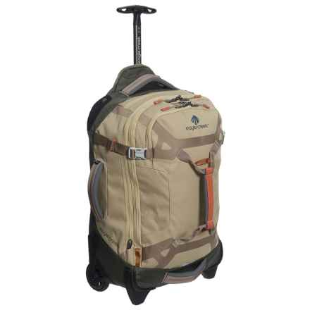 "Eagle Creek Load Warrior Carry-On Rolling Duffel Bag - 22"" in Tan/Olive - Closeouts"