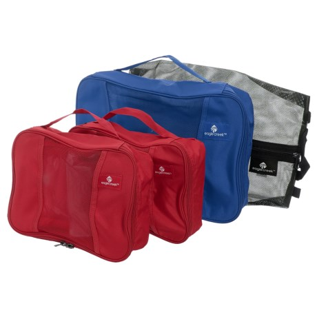 Eagle Creek Pack-It® Original Carry-On Set - 4-Piece in Black/Blue Sea/Red/Red