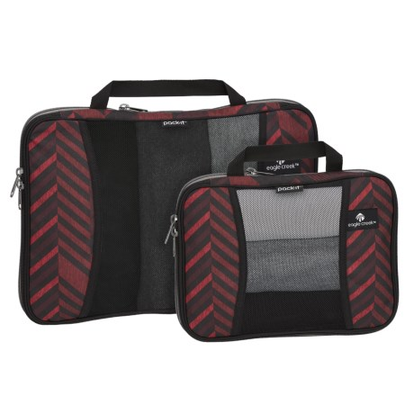 Eagle Creek Pack-It® Original Compression Cube Set - 2-Piece, Full and Half in Tribal Irregularity Red