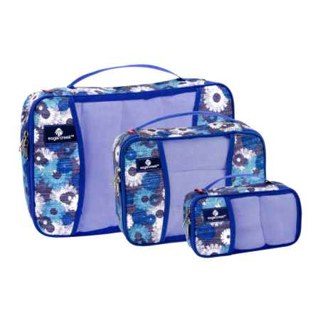 Eagle Creek Pack-It® Original Cube Set - 3-Piece, Full, Half and Quarter in Daisy Chain Blue - Closeouts