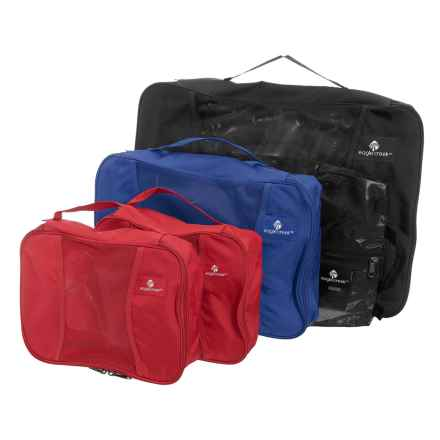 Eagle Creek Pack-It® Original Medium Carry-On Set - 5-Pack in Black/Blue Sea/Red/Red - Closeouts