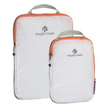 Eagle Creek Pack-It® Specter Compression Cube Set - 2-Piece in White/Tangerine - Closeouts