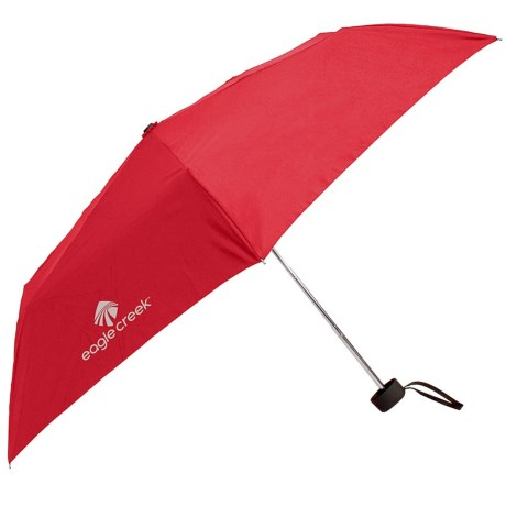 Eagle Creek Rain Away Travel Umbrella in Torch Red