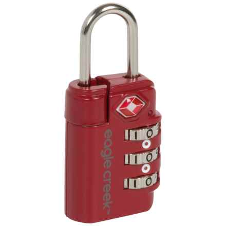 Eagle Creek Travel Safe Combination TSA Lock in Cherry Red - Closeouts