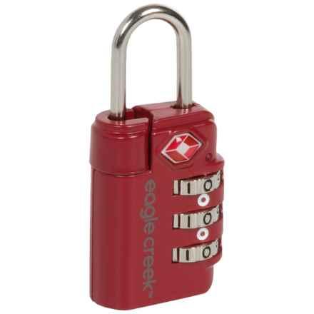 Eagle Creek Travel Safe Combination TSA Lock in Cherry Red - Closeouts