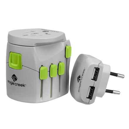 Eagle Creek USB Universal Travel Adapter Pro in Quarry Grey/Strobe - Overstock