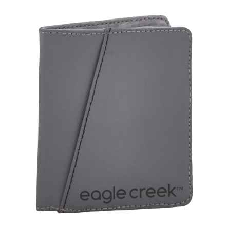 Eagle Creek Vertical Bi-Fold Wallet in Stone Grey - Closeouts